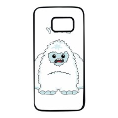 Yeti Samsung Galaxy S7 Black Seamless Case by Valentinaart
