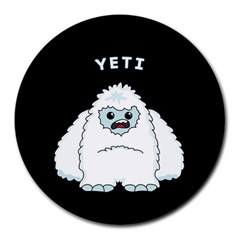 Yeti Round Mousepads by Valentinaart