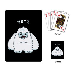 Yeti Playing Card by Valentinaart