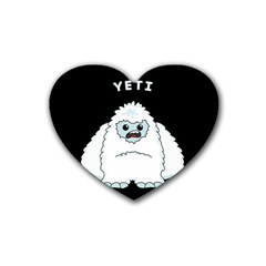Yeti Rubber Coaster (heart)  by Valentinaart