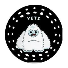 Yeti Ornament (round Filigree) by Valentinaart