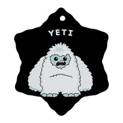 Yeti Snowflake Ornament (two Sides) by Valentinaart