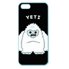 Yeti Apple Seamless Iphone 5 Case (color) by Valentinaart