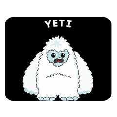 Yeti Double Sided Flano Blanket (large)  by Valentinaart