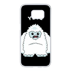 Yeti Samsung Galaxy S7 Edge White Seamless Case by Valentinaart