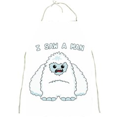 Yeti   I Saw A Man Full Print Aprons by Valentinaart