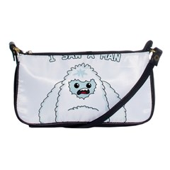 Yeti   I Saw A Man Shoulder Clutch Bags by Valentinaart