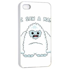 Yeti   I Saw A Man Apple Iphone 4/4s Seamless Case (white) by Valentinaart