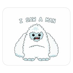 Yeti   I Saw A Man Double Sided Flano Blanket (small)