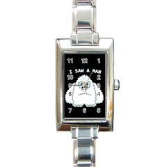 Yeti   I Saw A Man Rectangle Italian Charm Watch by Valentinaart
