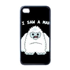 Yeti   I Saw A Man Apple Iphone 4 Case (black) by Valentinaart