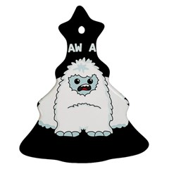 Yeti   I Saw A Man Ornament (christmas Tree)  by Valentinaart