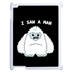 Yeti   I Saw A Man Apple Ipad 2 Case (white) by Valentinaart