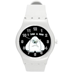Yeti   I Saw A Man Round Plastic Sport Watch (m) by Valentinaart