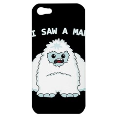 Yeti   I Saw A Man Apple Iphone 5 Hardshell Case by Valentinaart