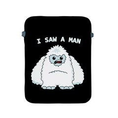 Yeti   I Saw A Man Apple Ipad 2/3/4 Protective Soft Cases by Valentinaart