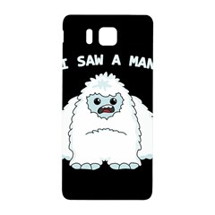 Yeti   I Saw A Man Samsung Galaxy Alpha Hardshell Back Case by Valentinaart