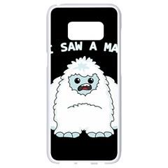 Yeti   I Saw A Man Samsung Galaxy S8 White Seamless Case by Valentinaart