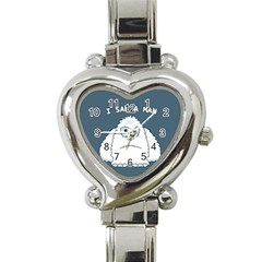 Yeti   I Saw A Man Heart Italian Charm Watch by Valentinaart