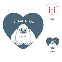 Yeti   I Saw A Man Playing Cards (heart)  by Valentinaart