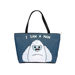 Yeti   I Saw A Man Shoulder Handbags by Valentinaart