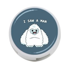 Yeti   I Saw A Man 4 Port Usb Hub (one Side) by Valentinaart