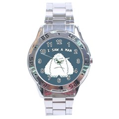 Yeti   I Saw A Man Stainless Steel Analogue Watch by Valentinaart