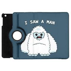 Yeti   I Saw A Man Apple Ipad Mini Flip 360 Case by Valentinaart