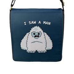 Yeti   I Saw A Man Flap Messenger Bag (l)  by Valentinaart
