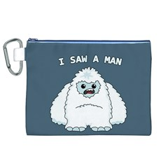 Yeti   I Saw A Man Canvas Cosmetic Bag (xl) by Valentinaart