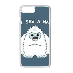 Yeti   I Saw A Man Apple Iphone 7 Plus White Seamless Case by Valentinaart