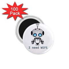 Cute Robot 1 75  Magnets (100 Pack)  by Valentinaart
