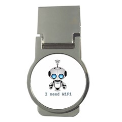 Cute Robot Money Clips (round)  by Valentinaart