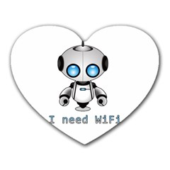 Cute Robot Heart Mousepads by Valentinaart