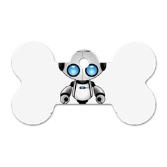 Cute Robot Dog Tag Bone (one Side) by Valentinaart