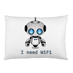 Cute Robot Pillow Case (two Sides) by Valentinaart