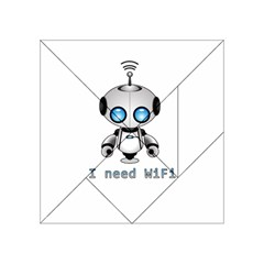 Cute Robot Acrylic Tangram Puzzle (4  X 4 ) by Valentinaart