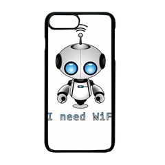 Cute Robot Apple Iphone 7 Plus Seamless Case (black) by Valentinaart