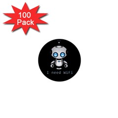 Cute Robot 1  Mini Magnets (100 Pack)  by Valentinaart