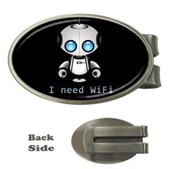 Cute Robot Money Clips (oval)