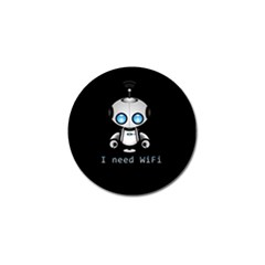 Cute Robot Golf Ball Marker by Valentinaart