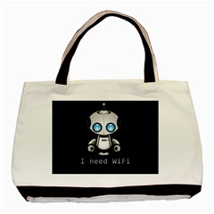 Cute Robot Basic Tote Bag (two Sides) by Valentinaart