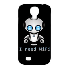 Cute Robot Samsung Galaxy S4 Classic Hardshell Case (pc+silicone) by Valentinaart