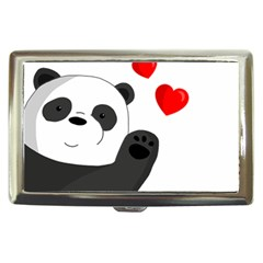 Cute Panda Cigarette Money Cases by Valentinaart