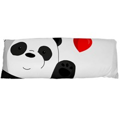 Cute Panda Body Pillow Case (dakimakura) by Valentinaart