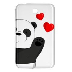 Cute Panda Samsung Galaxy Tab 3 (7 ) P3200 Hardshell Case  by Valentinaart