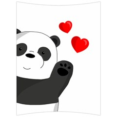 Cute Panda Back Support Cushion by Valentinaart