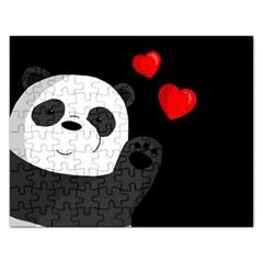 Cute Panda Rectangular Jigsaw Puzzl by Valentinaart