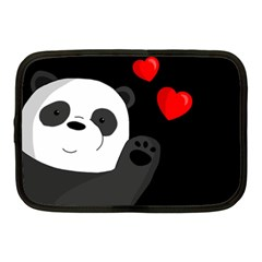 Cute Panda Netbook Case (medium)  by Valentinaart