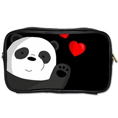 Cute Panda Toiletries Bags by Valentinaart